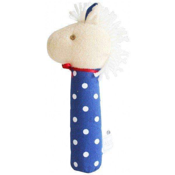 Alimrose,Horse Hand Squeaker in Navy Star,CouCou,Toy