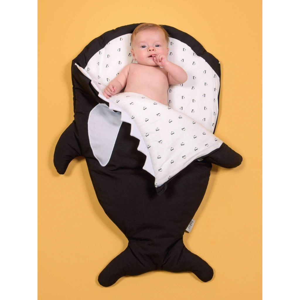 Baby Bites,Baby Bites Winter Sleep Sack in Black Orca Whale,CouCou,Home/Decor