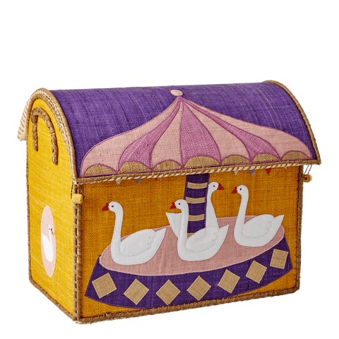 Medium Toy Basket in Carousel Design