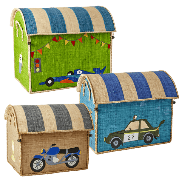 RICE,Medium Toy Basket in Race Car Design,CouCou,Home/Decor