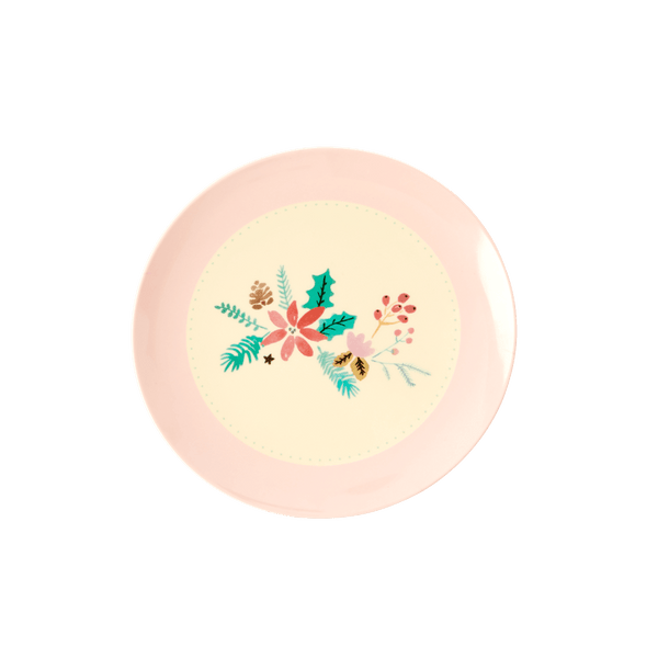 RICE,Kids Melamine Dessert Plate, Christmas Print,CouCou,Kitchenware