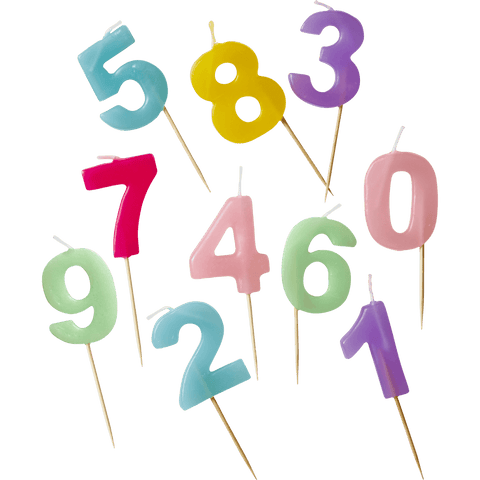 Assorted Number Candles