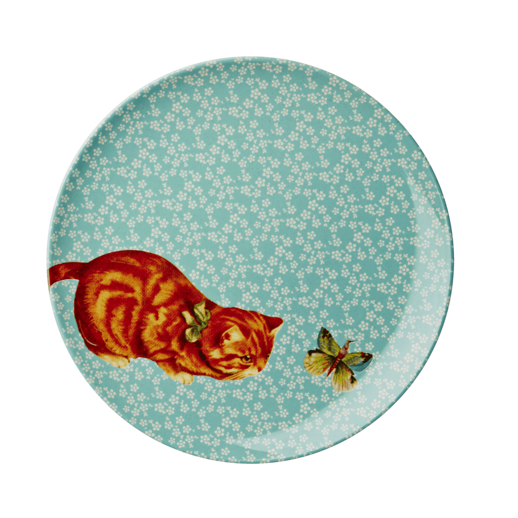 RICE,Lunch Plate with Cat and Butterfly print,CouCou,Kitchenware