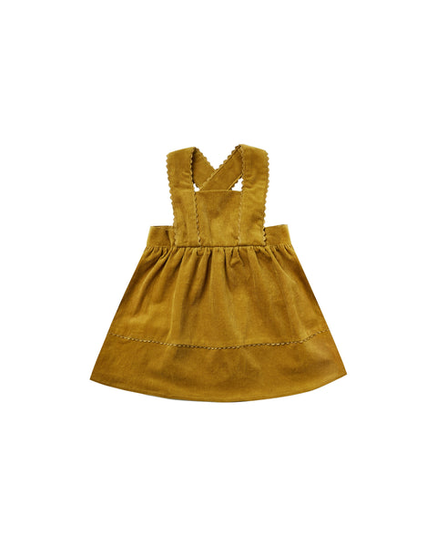 Corduroy Pinafore in Goldenrod