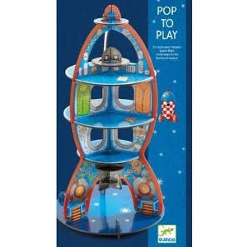Djeco,Pop To Play - Up To Space 3D,CouCou,Arts & Crafts