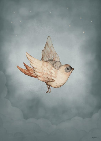Mrs. Mighetto,Dear Sparrow - 50x70cm Limited Edition Print,CouCou,Nursery Art