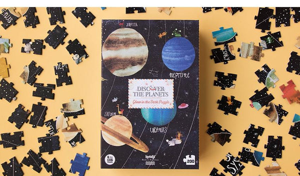 Discover the Planets Puzzle (200 pcs) - Glow-in-Dark