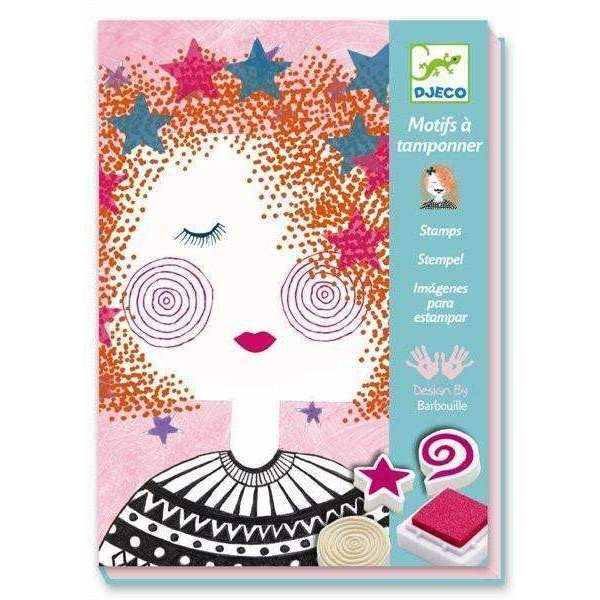 Djeco,Fashion Girl Stamp Set,CouCou,Arts & Crafts