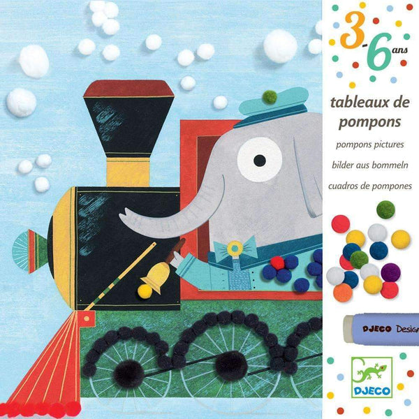 Djeco,Pompom Pictures: All Aboard,CouCou,Arts & Crafts