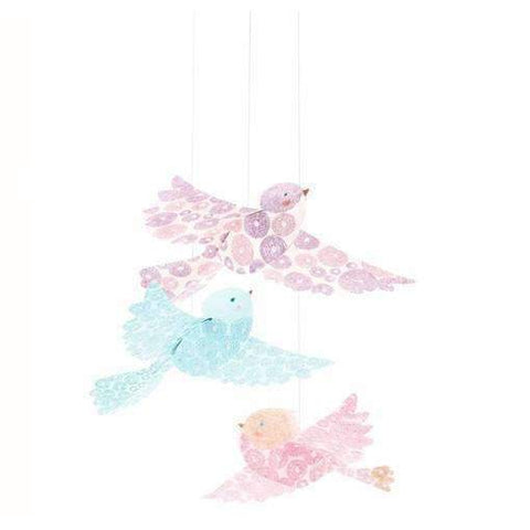 "Lightweight Paper ""Glitter Birds"" Hanging Decoration"