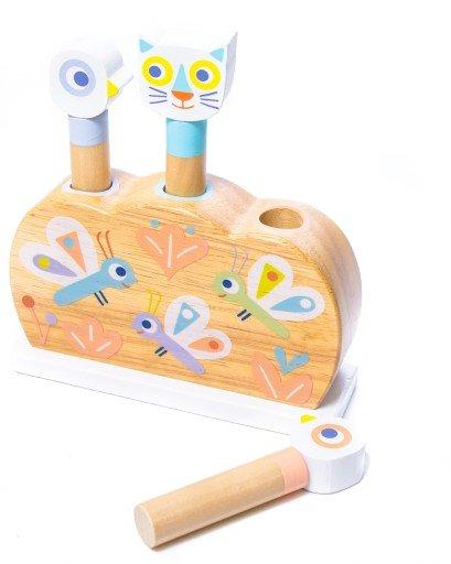 Djeco,Baby Popi Wooden Pop Up,CouCou,Toy