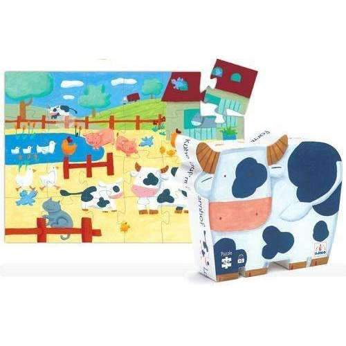 Djeco,Cow on the Farm Puzzle, 24 pieces,CouCou,Toy