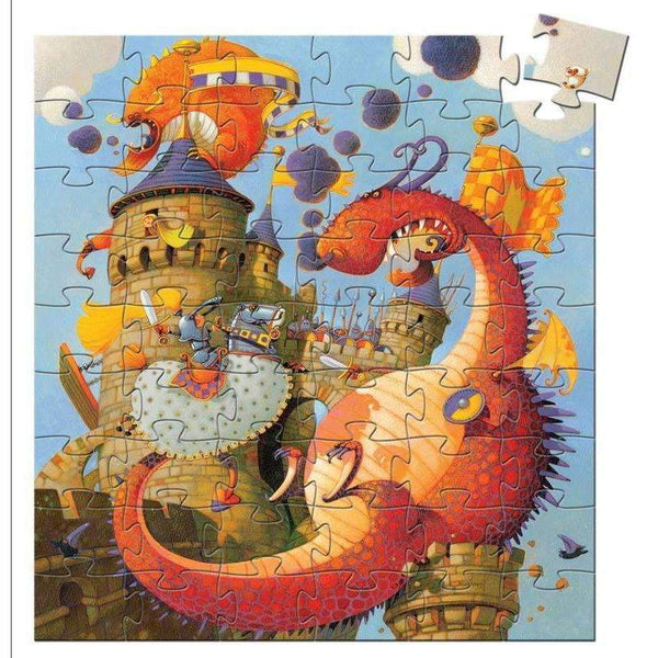 Djeco,Valiant and the Dragon 54pcs Silhouette Puzzle,CouCou,Toy