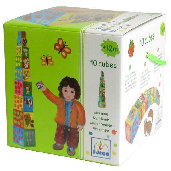 Djeco,10 My Friends Stacking Cubes,CouCou,Toy
