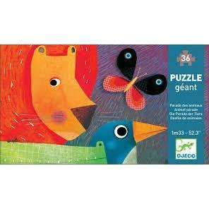 Djeco,Giant Puzzle, Animal Parade,CouCou,Toy