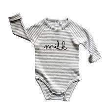 Organic ZOO,Milk Bodysuit in Grey Stripes,CouCou,Unisex Baby Clothes