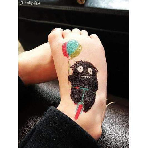 Monster with Balloons Tattoo