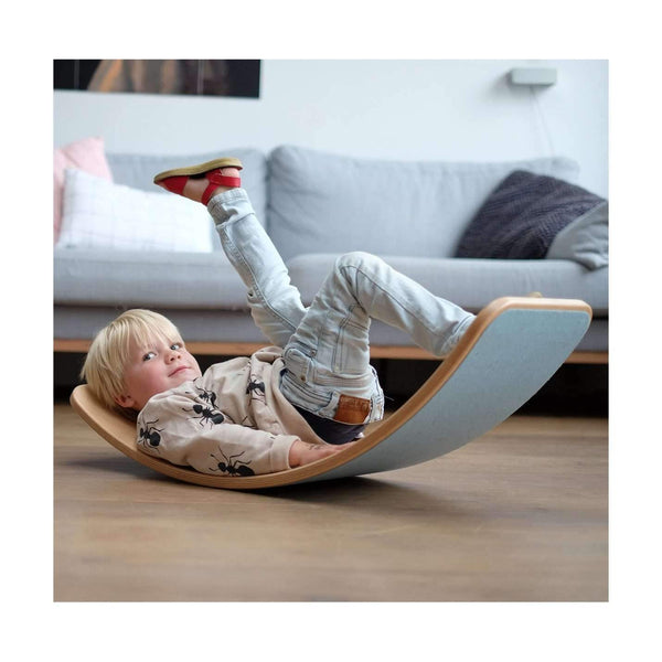 ,Wobbel Waldorf Balance Board Natural with Mouse Grey Felt,CouCou,