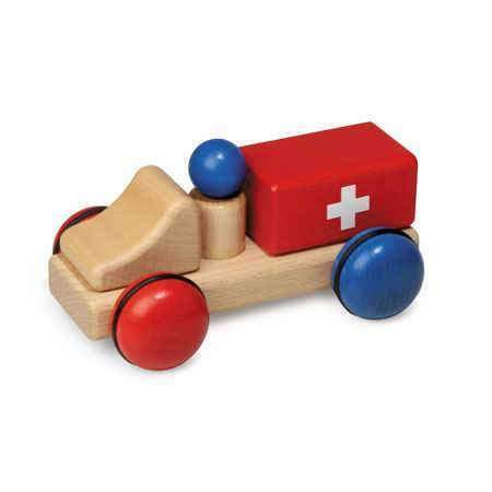 Fagus,Wooden Ambulance Mini,CouCou,Toy
