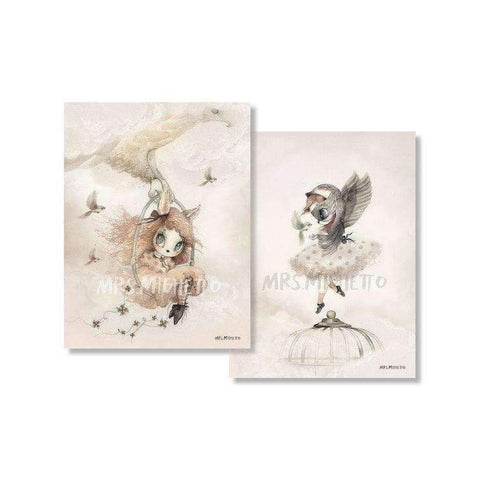 2-Pack Miss Annie/ Miss Sofia - 18x24cm Limited Edition Prints