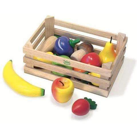 Vilac,Fruits and Veggie Box, 12 Piece,CouCou,Toy