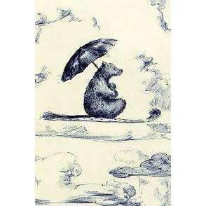 Everyday Greeting Card, Bear with Umbrella
