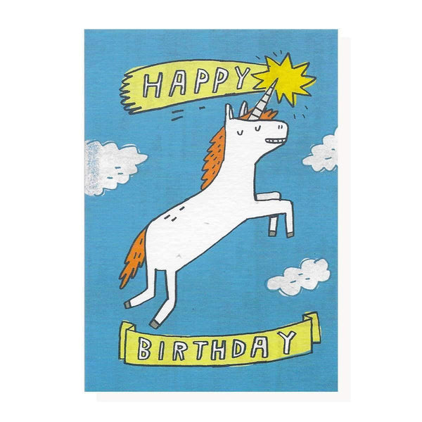 Roger La Borde,Happy Unicorn Birthday Card,CouCou,Crafts & Stationary