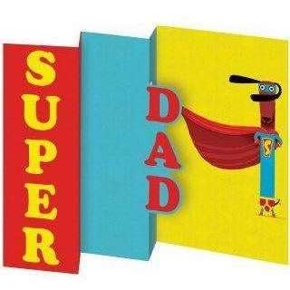 Roger La Borde,Super Dad Father's Day Card,CouCou,Crafts & Stationary