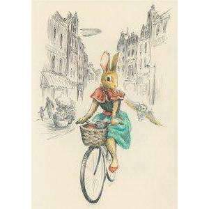 Roger La Borde,Everyday Greeting Card, Rabbit Cyclist,CouCou,Crafts & Stationary
