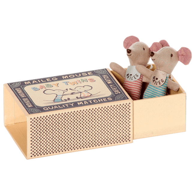 Maileg,Twin Baby Mice in a box,CouCou,Toy