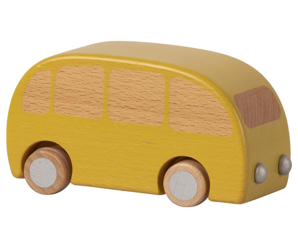 Maileg,Wooden Bus, Yellow,CouCou,Toy