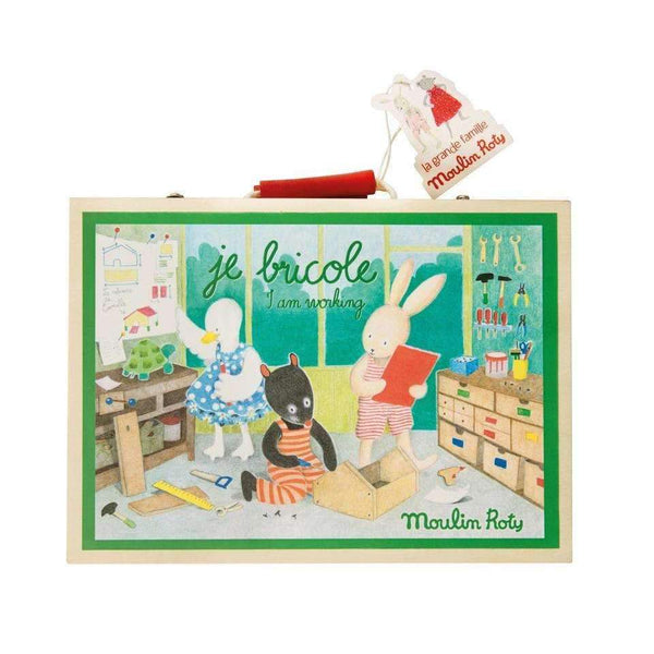 Moulin Roty,I Am Working, Wooden Tool Valise,CouCou,Toy