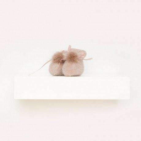 Baby Cashmere Booties with Pompons