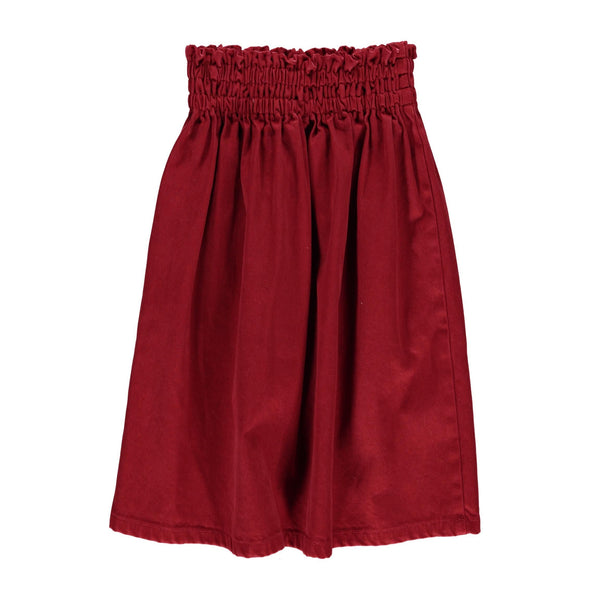 piupiu chick,Long Skirt in Garnet,CouCou,Girl Clothes
