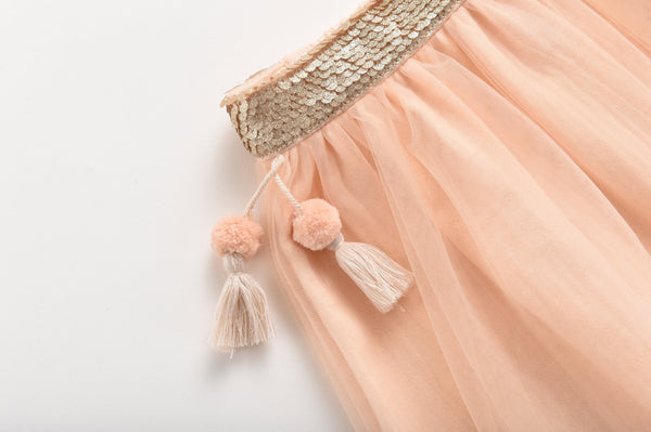 Louise Misha,Miniyi Skirt in Blush,CouCou,Girl Clothes