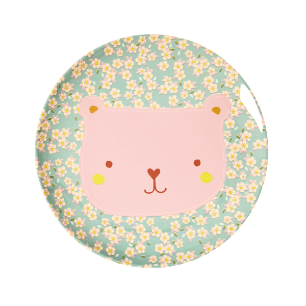 RICE,Lunch Plate with Animal Print, Bear,CouCou,Kitchenware