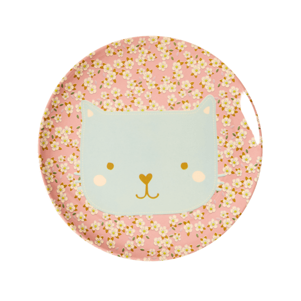 RICE,Lunch Plate with Animal Print, Cat,CouCou,Kitchenware