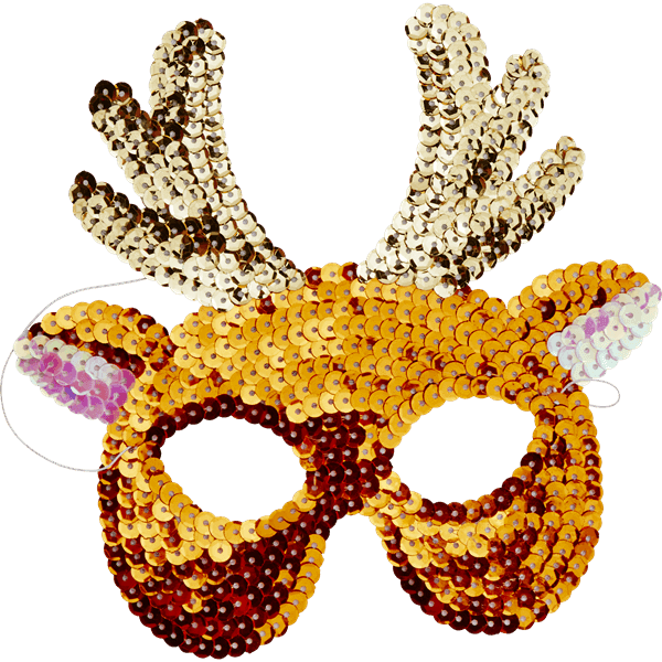 RICE,Sequin Party Masks in Assorted Animal Designs,CouCou,Toy