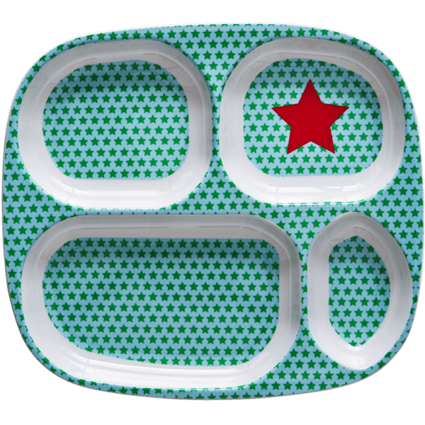 RICE,4-room plate with Boy Star Print,CouCou,Kitchenware