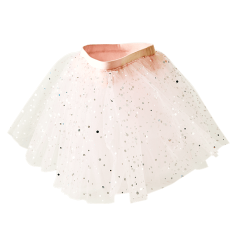Tulle Tutu in Pink with Silver Dots