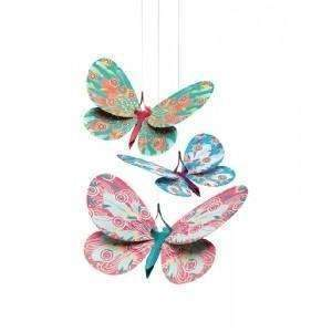 "Lightweight Paper ""Glitter Butterflies"" Decoration"