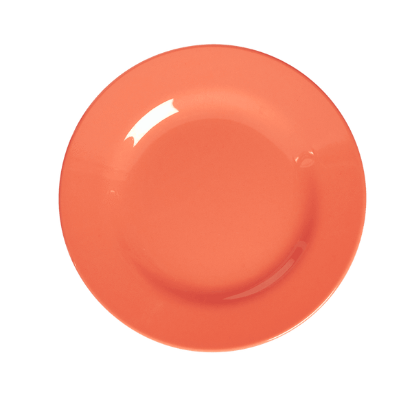 RICE,Kids Melamine Lunch Plate, Pastel Neon Coral,CouCou,Kitchenware