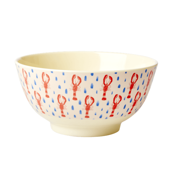 RICE,Two-Tone Bowl with Lobster Print,CouCou,Kitchenware