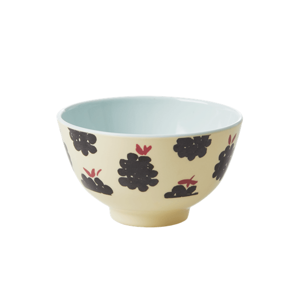 RICE,Small Bowl with Blackberry Print,CouCou,Kitchenware