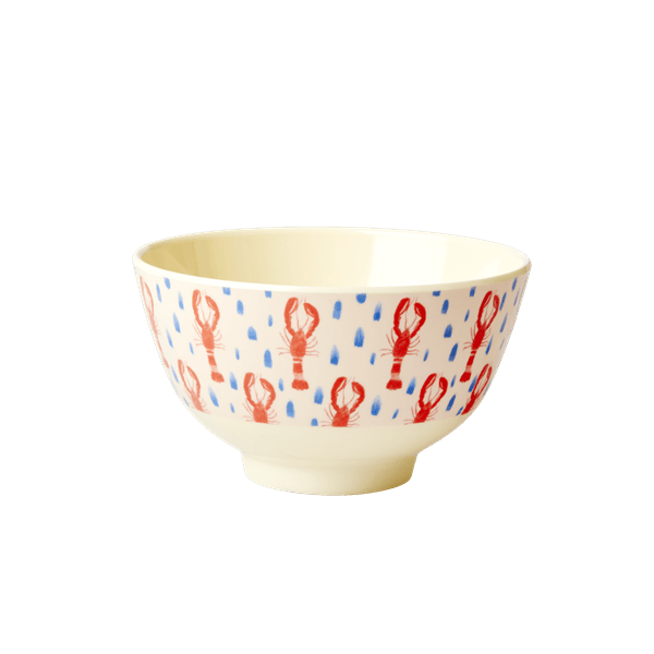 RICE,Small Bowl with Lobster Print,CouCou,Kitchenware