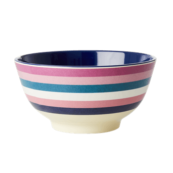 RICE,Two Tone Bowl with Stripe Print,CouCou,Kitchenware