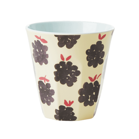 Cup with Blackberry Print