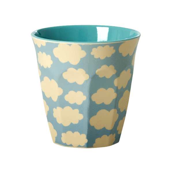 RICE,Cup with Cloud Print, Blue,CouCou,Kitchenware