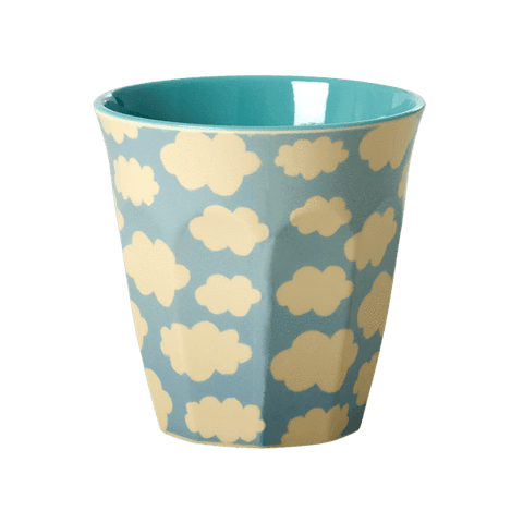 Cup with Cloud Print, Blue
