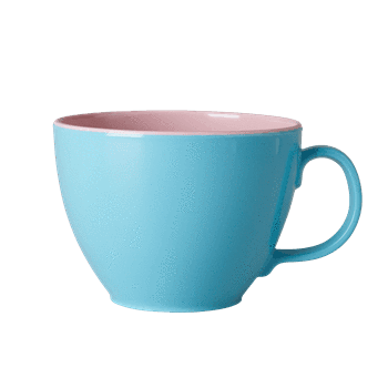 RICE,Jumbo Cup in Two-Tone, Dusty Mint and Soft Pink,CouCou,Kitchenware